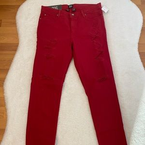 Urban Outfitters BDG Red Skinny Jeans